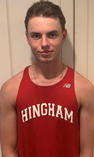Hayden Bromley of Hingham High has been named to The Patriot Ledger All-Scholastic Boys Outdoor Track Team.