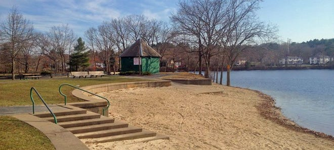 The state recommends that people avoid contact with Georgiaville Pond in Smithfield.