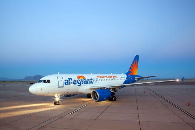 An Allegiant Air jet.