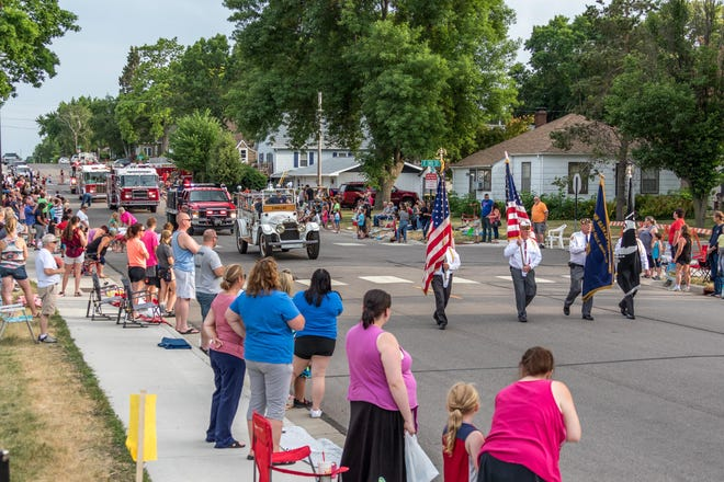 The Redwood Falls Community Parade delighted the crowd on Friday night.