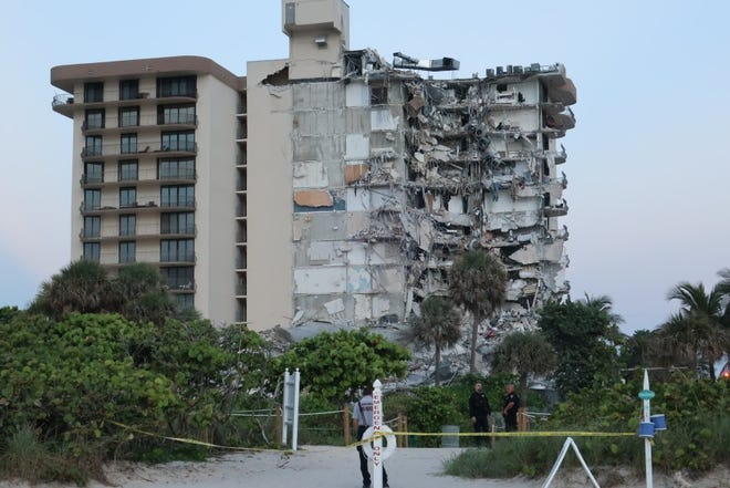 The June collapse of the Champlain Tower South condominium in Surfside has led to nearly 100 deaths.