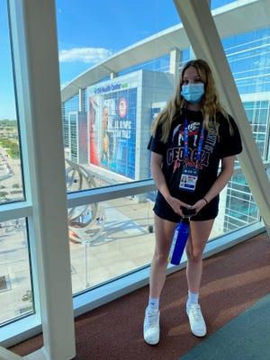 Savannah's Gaby Van Brunt, 15, competed in the 100-meter butterfly at the U.S. Olympic Swim Trials on June 6 in Omaha, Nebraska.