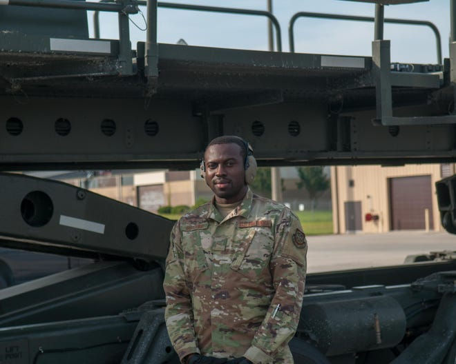 Airman 1st Class Takyi Botchway, who is at Pope Army Airfield at Fort Bragg, is in the process of becoming an American citizen.