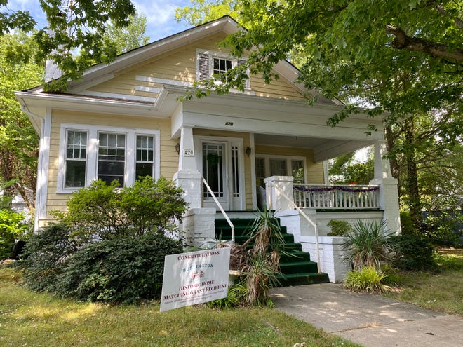 Mary Dalton's Tarpley Street home is the first to receive the Preservation Burlington Historic Home matching grant.