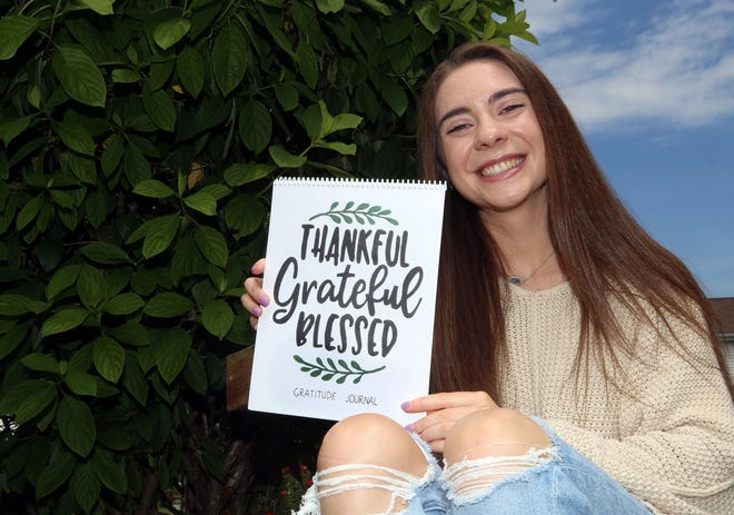 Hilliard Davidson High School graduate Allie Myers raised more than $4,300 for Flying Horse Farms in Mount Gilead by selling gratitude journals. Myers has juvenile arthritis and was a camper at Flying Horse Farms; she hopes to be a counselor there in the future.
