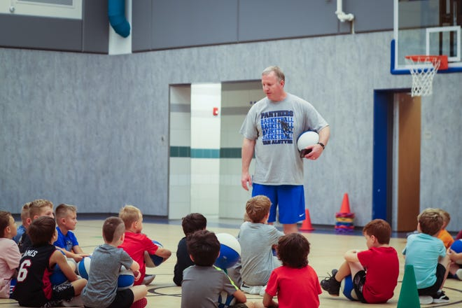 The Van Alstyne High School boys basketball coaching staff recently held three basketball camp opportunities for future Panthers. This year the staff put on three separate weeks of skills camps based on ages. This allowed a personal touch with Coaches Russell Best and Phil Walker allowing them to focus on the camper's abilities and level of play. Overall there were over seventy boys in the 1st through 6th grades involved in the camps.