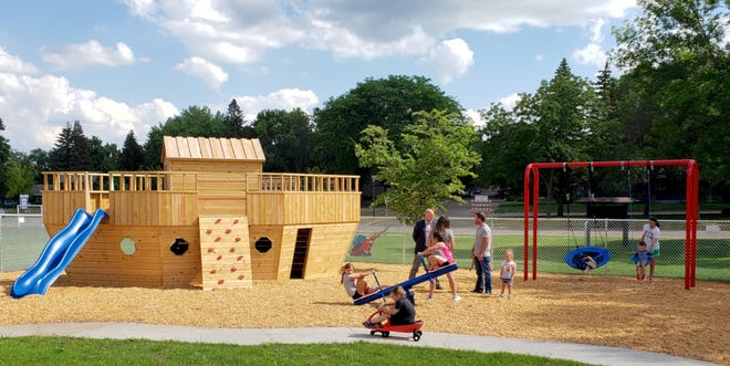 The new Early Learning Center at the St. Martin's Lutheran School has preschool-aged children in mind, including a new playground designed specifically for their size and adventurous spirits.
