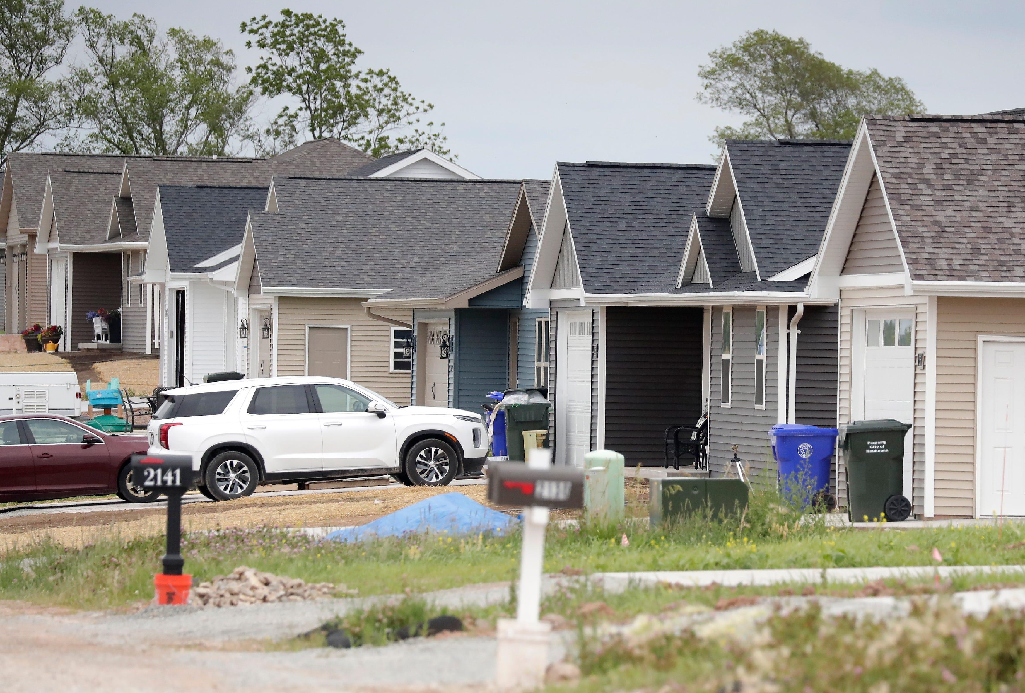 Homes built by Tom McHugh Construction near Haas Road in Kaukauna.