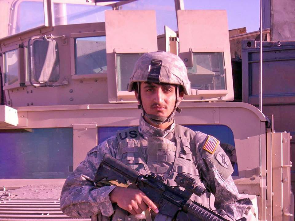 Zalmay Niazy is shown here during his time assisting the U.S. military as a translator in his native Afghanistan. He began the job in 2007 and now lives in Iowa Falls, Iowa.
