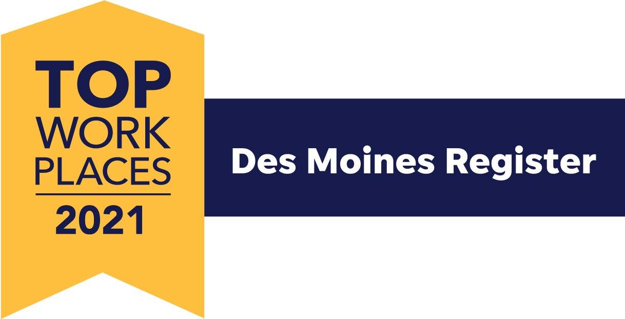 Des Moines Top Workplaces 2021 Logo