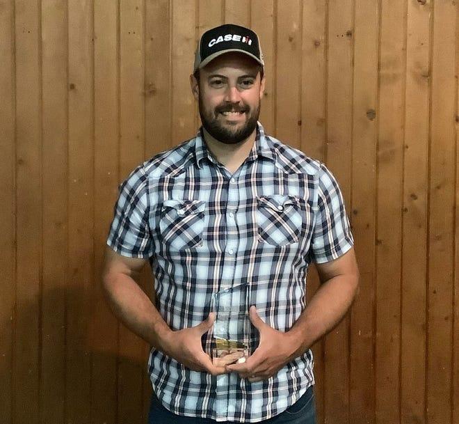 Derek Hetrick was named 2021 Farmer of the year.