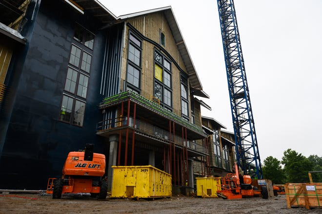 Construction continues at the Grand Bohemian Hotel Tuesday, June 29, 2021. Tuesday, June 29, 2021.