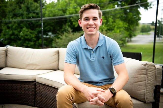 Jackson Greene, photographed in Knoxville on Tuesday, June 29, 2021, is the founder of Pursuit Digital. Greene started the digital marketing company right out of high school last year.