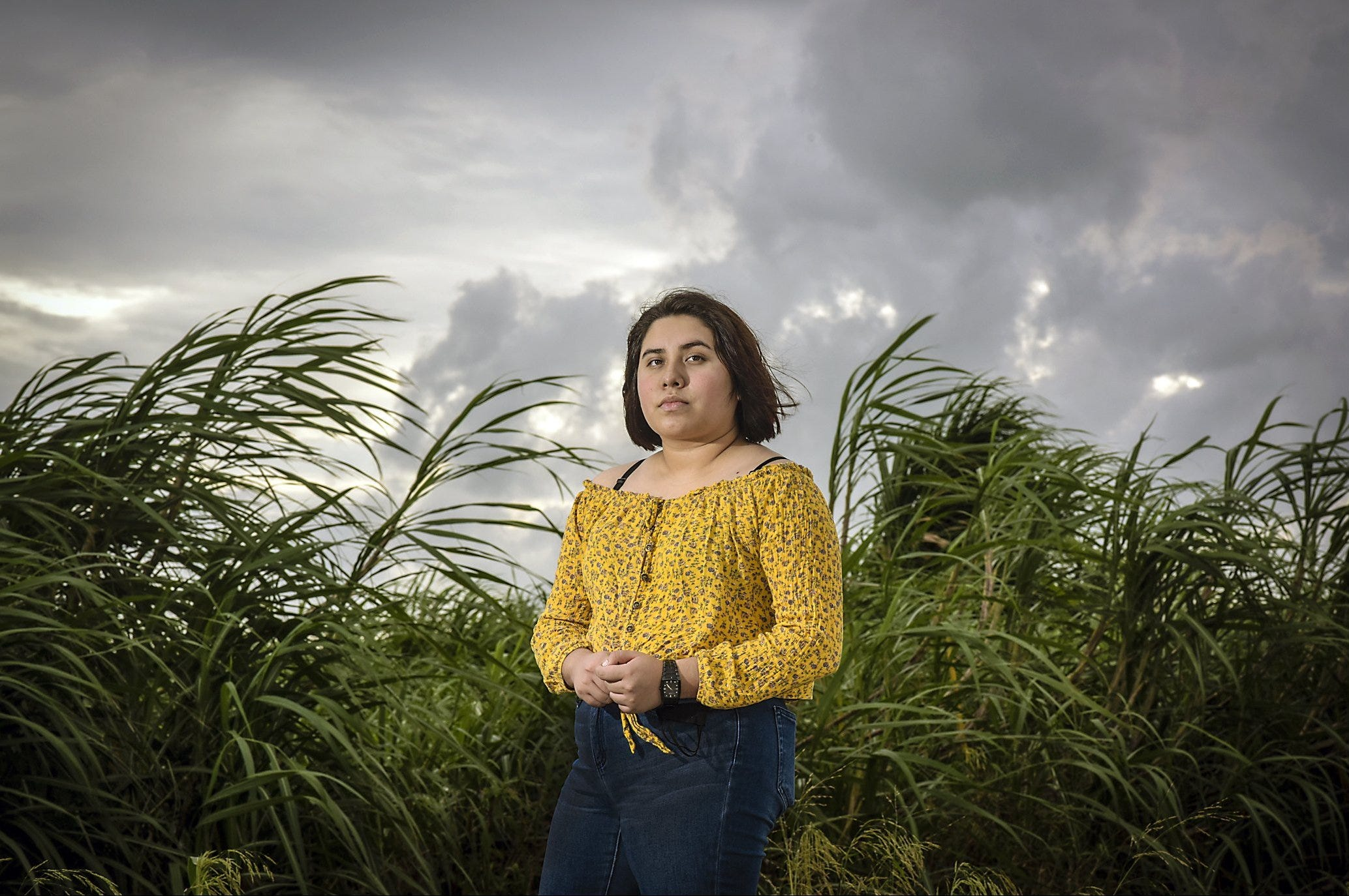 Jasmine Calderon drew motivation from teachers and mentors to successfully finish her senior year at Pahokee High in Palm Beach County.