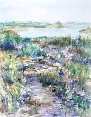 """""""Looking West At The Garden,"""" by Tanya Trinkaus Glass"""