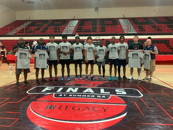 McClintock wins the Summer 64 Section 7 Finals gold bracket title. Photo courtesy of McClintock basketball