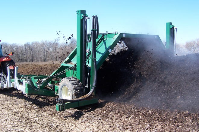 When manure is mixed with dry-wall scrap and monitored and turned it becomes a very beneficial additive to unlock other nutrients in the soil.