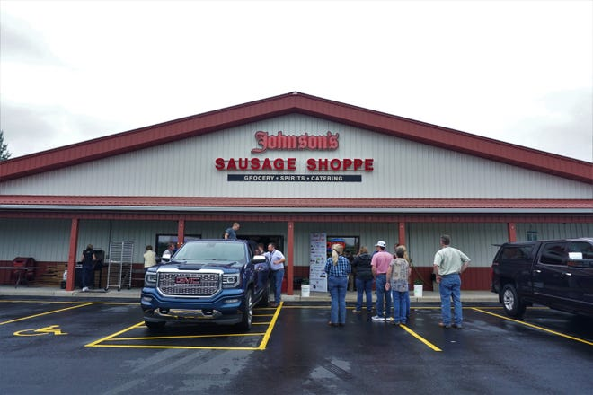 Johnson's Sauasage Shoppe is located in Rio, Wis.