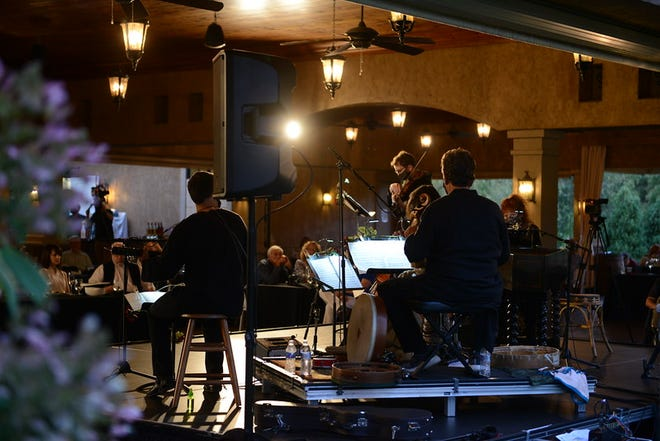 Apollo's Fire performs outdoors in summer 2020 at the Gervasi Vineyard Pavilion.