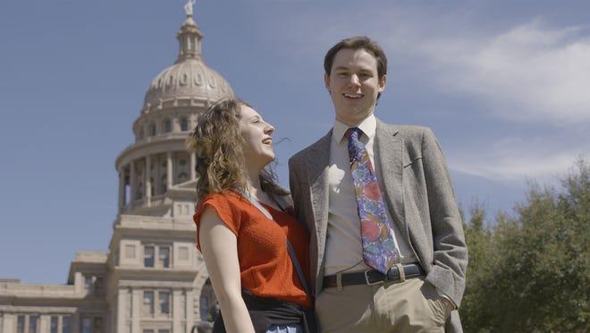 [L-R] L'Hannah Pedigo and Hayden Pedigo in the documentary, KID CANDIDATE, a GUNPOWDER & SKY release.