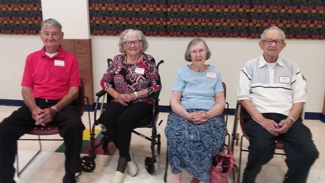 Alumni from 1945-1948—Dean Bailey, Norma Bailey Bilton, Jean Haynes Myers and Vaughn Neel