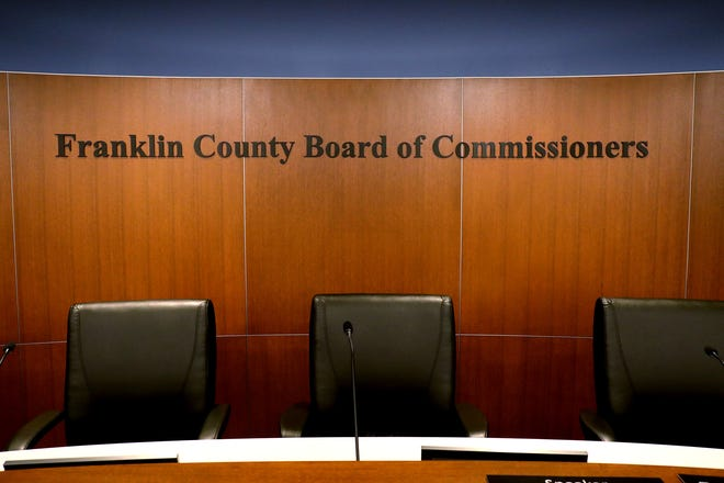 The Franklin County Commissioners Hearing Room, photographed on Wednesday, June 30, 2021.