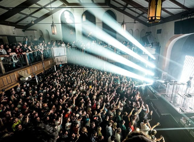 Concert-goers pack The Bluestone during a previous Prime Social Group show.