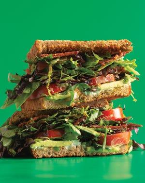 Vegan BLT sandwich at Can't Believe It's Vegan. (Photo by Tim Johnson)