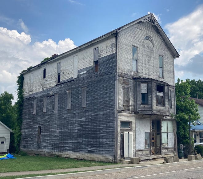 The Guernsey County Land Bank unanimously approved a motion Wednesday to deed the lot at 305 Main St. in Pleasant City to the village after a three-story former store is razed. A condition of the property transfer will be a requirement to maintain a historical marker once the building has been demolished.