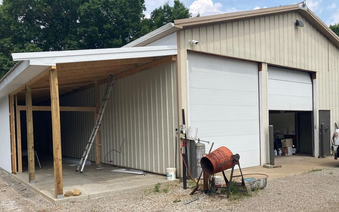 Guernsey County commissioners approved $2,500 to complete an addition to the county's maintenance building on Bennett Avenue in Cambridge. The addition will be used to store mowing and other equipment.