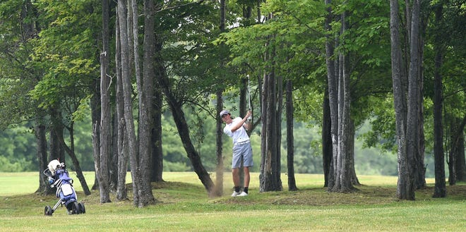 Erie High's Kyle Westfall competes in the EDGA Junior Match Play finals June 30, 2021 at The Ridge Golf Club in Waterford. He has already been the medalist at two matches in 2021.