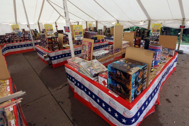 Freworks for sale Tuesday June 29, 2021 at the Bellino Fireworks tent located in the Burlington Fareway grocery store parking lot.