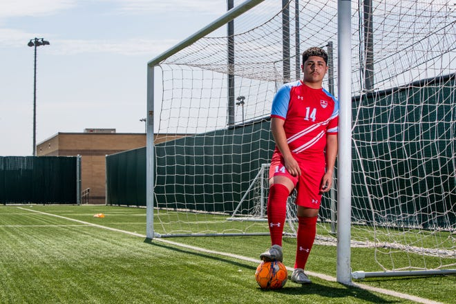 Monterey's Lalo Belmares-Ortiz is the Lone Star Varsity boys soccer newcomer of the year.