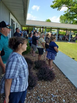 A service was held recently in honor of Bill Myers.