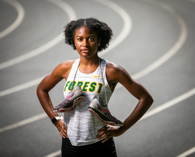 Forest's Nichole Harris is the Ocala Star-Banner's Girls Track Athlete of the Year.