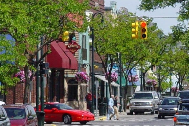 Three pedestrian accidents have occurred along the downtown stretch of Charlevoix's Bridge Street since October 2020.