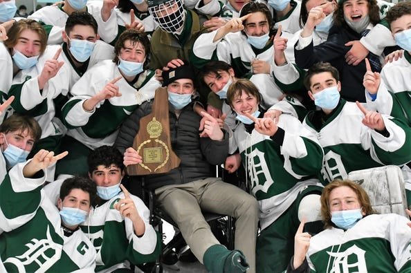The Dover High School boys hockey team was named Team of the Year at Wednesday's fifth annual Seacoast High School Sports Awards event. The Green Wave, who were one day away from not being able to play in the Division II tournament due to COVID, beat Somersworth/Coe-Brown, 2-1 in overtime in the state championship game at Dover Ice Arena.