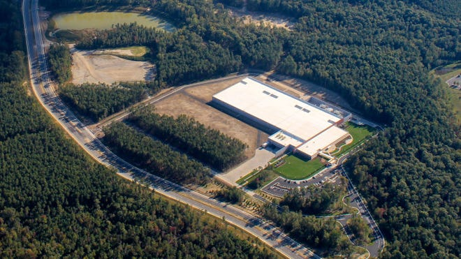 This undated aerial photo shows the Capital One data center located at Meadowville Technology Park in the Enon area of Chesterfield County. The Virginia-based financial services company said Tuesday it planned to welcome back 13,000 associates to its central Virginia sites in September as part of a hybrid work model.