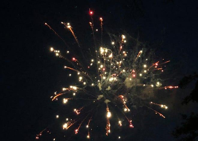 Fireworks in Chesterfield County, Va. in 2020.