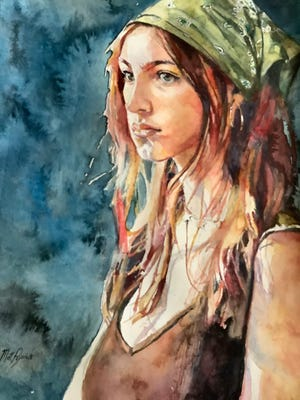 """This painting by Matt Payovich will be part of a solo exhibition by him that opens July 23 at the Box Factory for the Arts in St. Joseph. He also will teach the course """"Exploring Watercolor with Matt"""" for six Thursdays beginning July 8."""