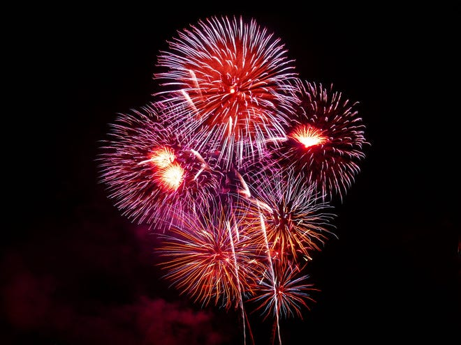 Saturday's Independence Day celebration events cap off the day of fun and celebration with a fireworks show at 10 p.m.
