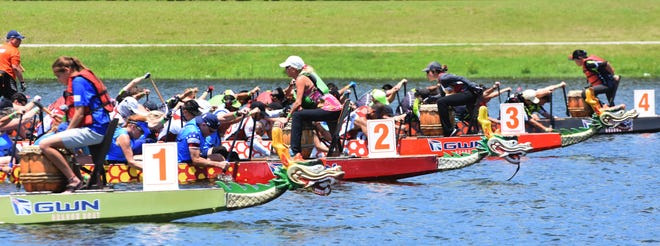 Hundreds of fans, participants and spectators were on hand for the Sarasota International Dragon Boat Festival at Nathan Benderson Park. The event returns Saturday.