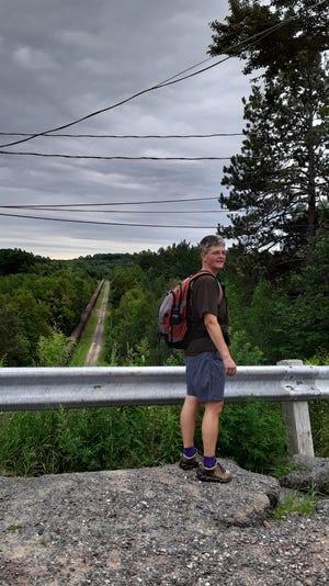 Meegan Flannery, artist, at Forestville Dam.