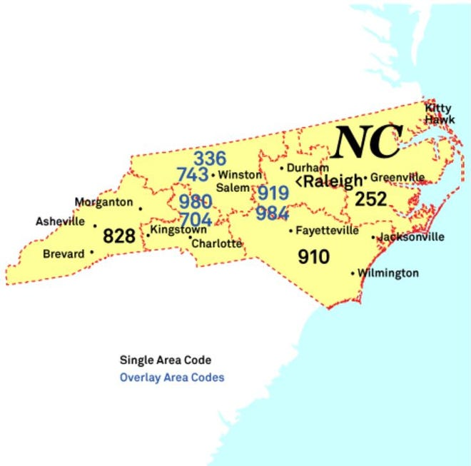 A new overlay area code is coming to Southeastern North Carolina's 910 area.