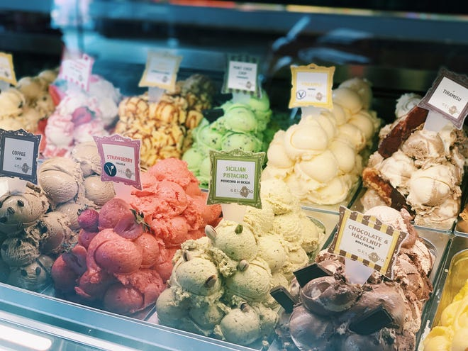 A selection of gelato at GelaRto at 18 S. Water St. in Wilmington, N.C.