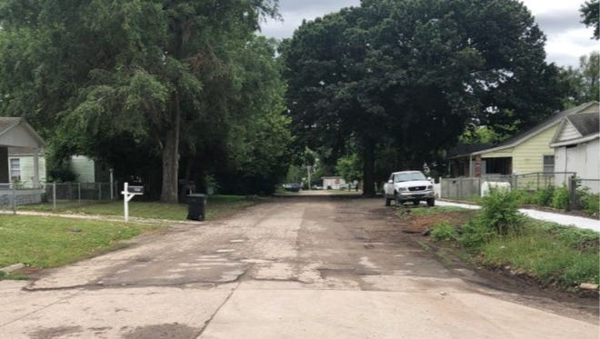 Marshall Stewart IV was charged Wednesday with crimes linked to a homicide committed last week in the 1200 block of S.W. Polk, shown here.