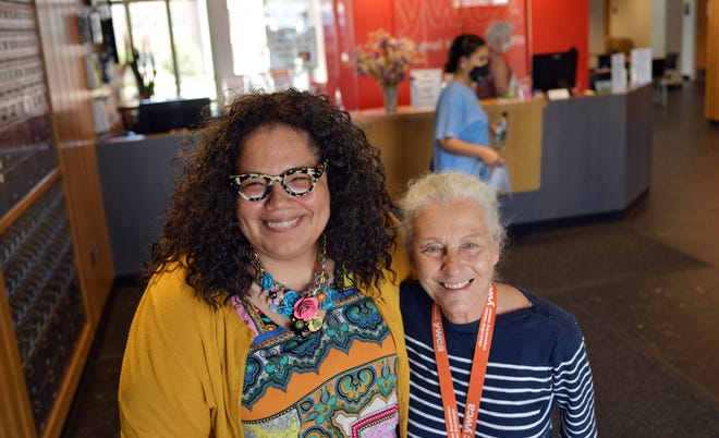 Incoming YWCA Central Massachusetts Executive Director Deborah Hall, left, with Linda Cavaioli, who's retiring as director, in the newly renovated YWCA at Salem Square in Worcester.