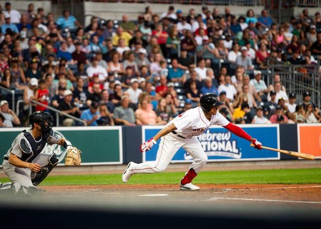 The WooSox' Yairo Munoz extended hit hitting streak to 19 games on Sunday.
