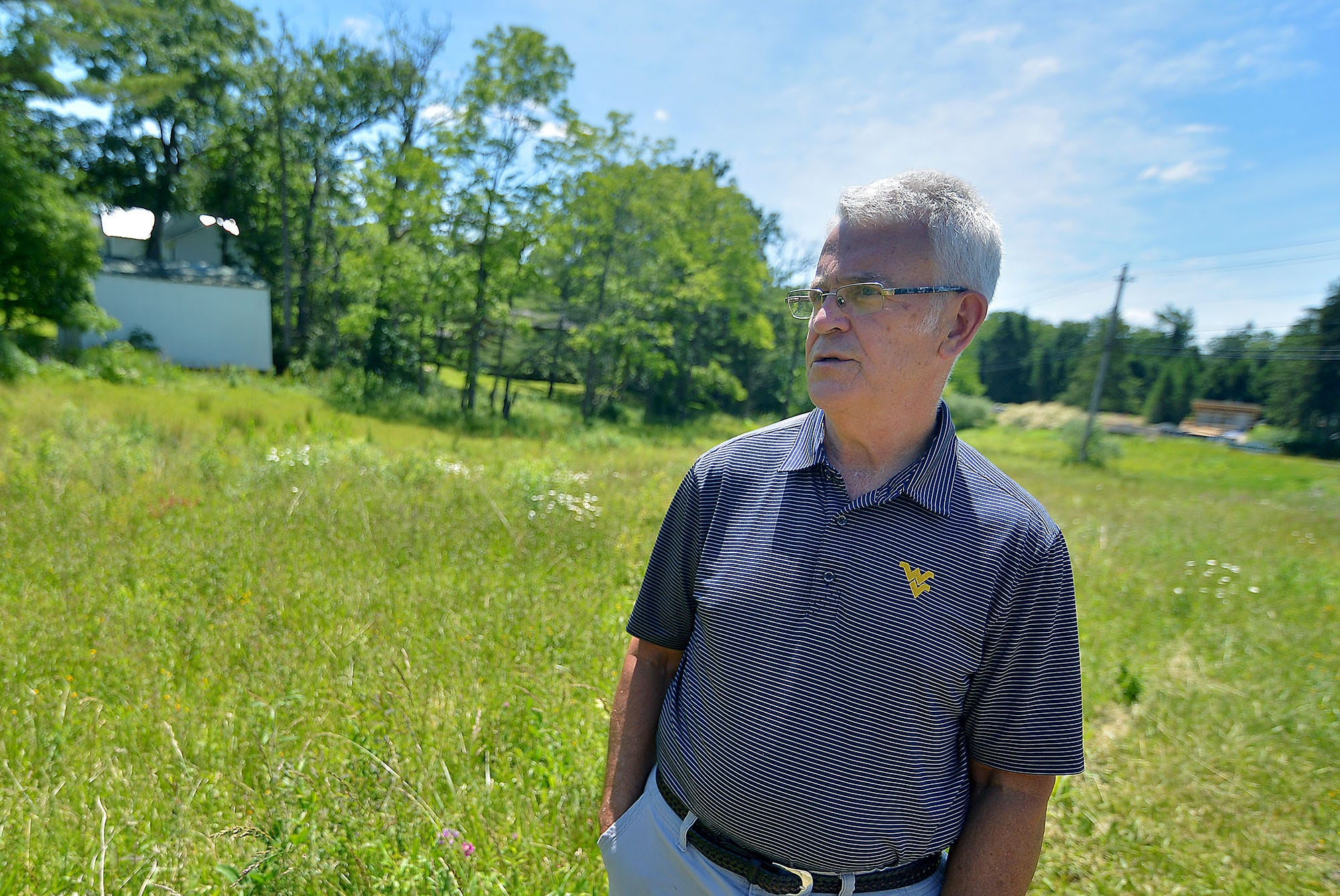 Don Sincell, the mayor of Mountain Lake Park, stands on the site where the Bethel A.M.E. church will be relocated to and restored.