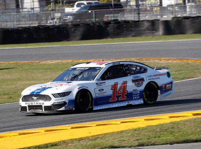 Chase Briscoe burns through road course race at Daytona International earlier in the NASCAR Cup Series season. The Mitchell driver will be back in No.14 Ford Performance Racing School Mustang Sunday at Road America.